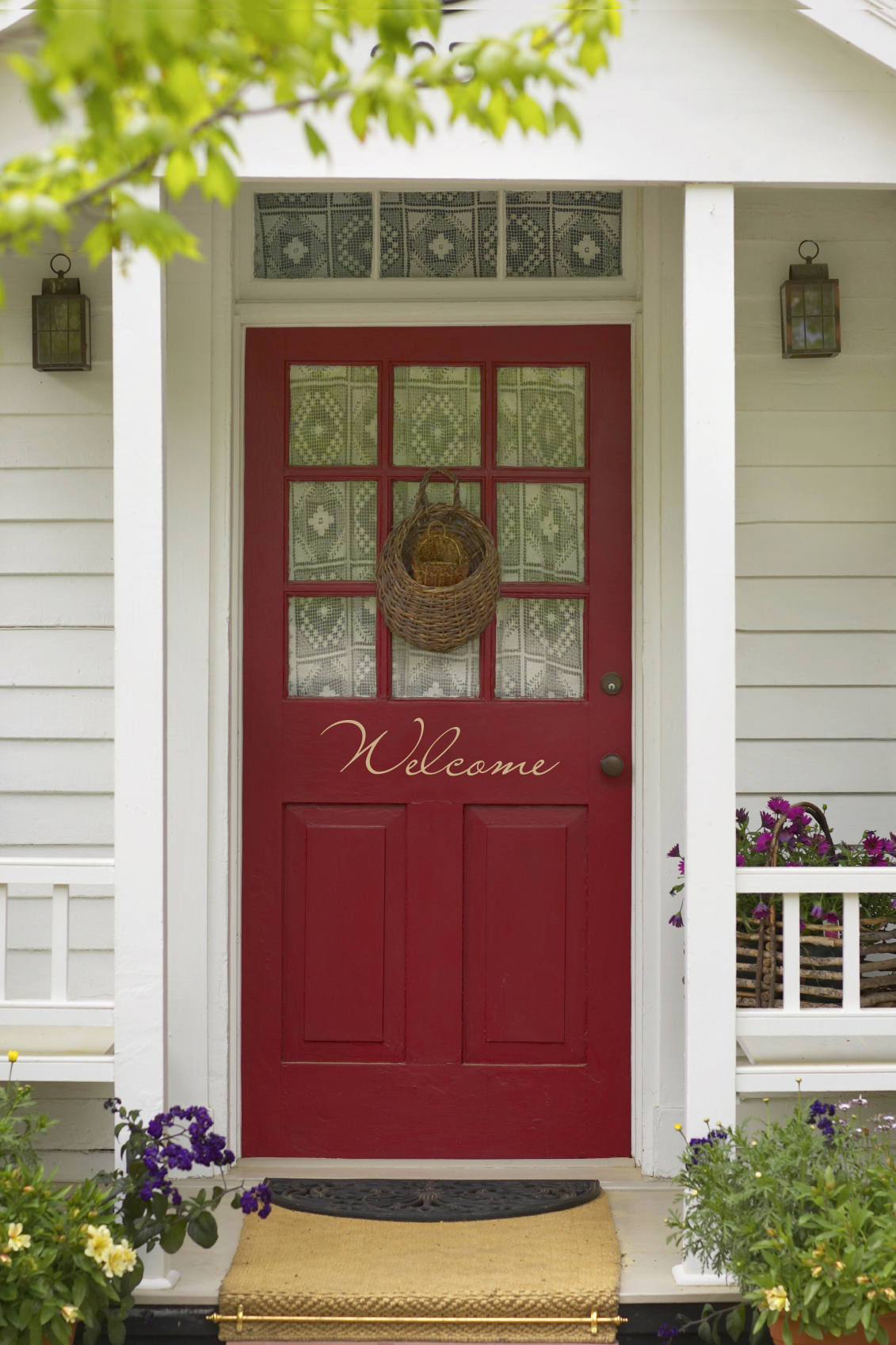 Front-Entrance-Doors-Red