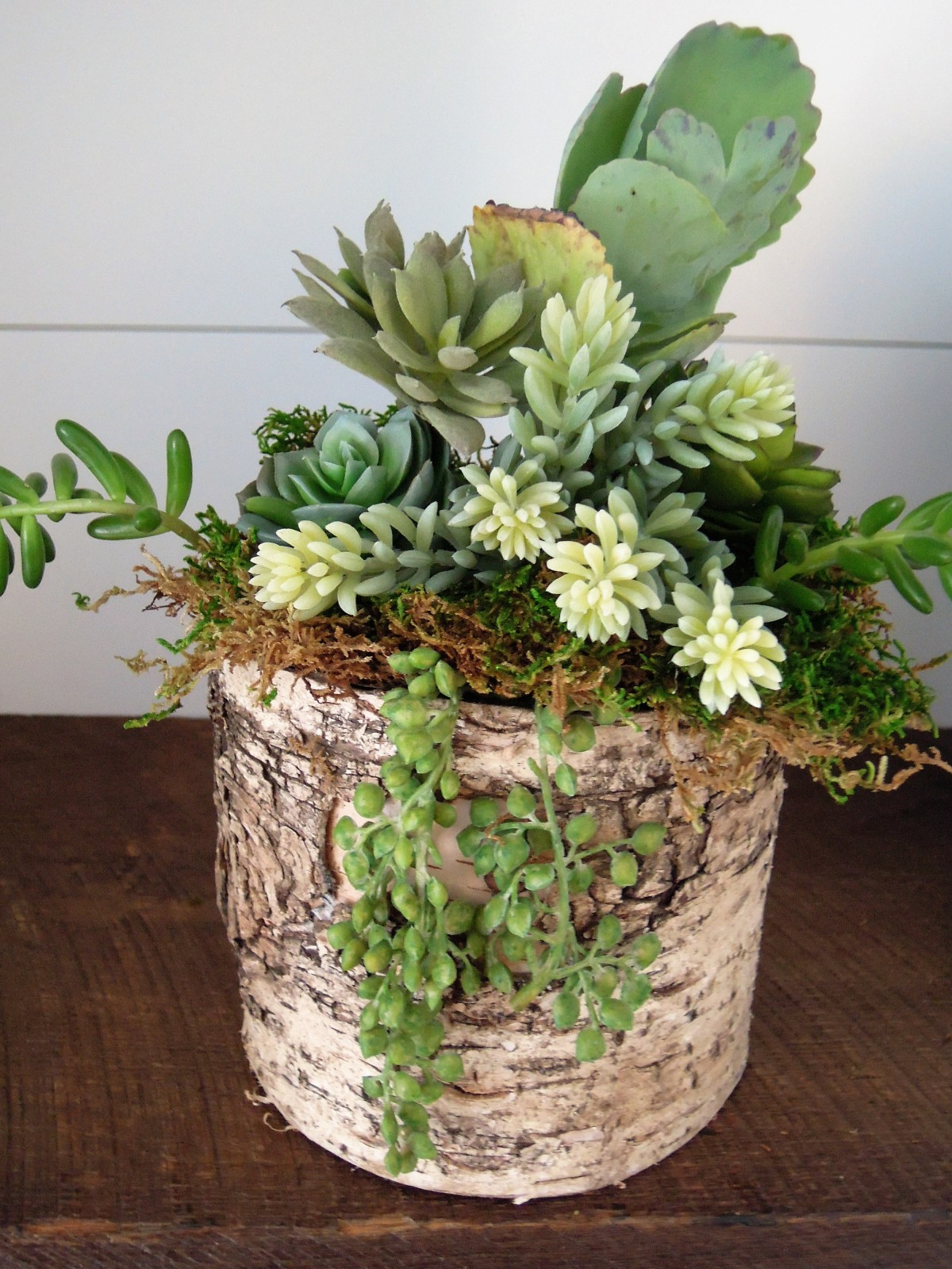 Fake succulents idea arrangement DIY