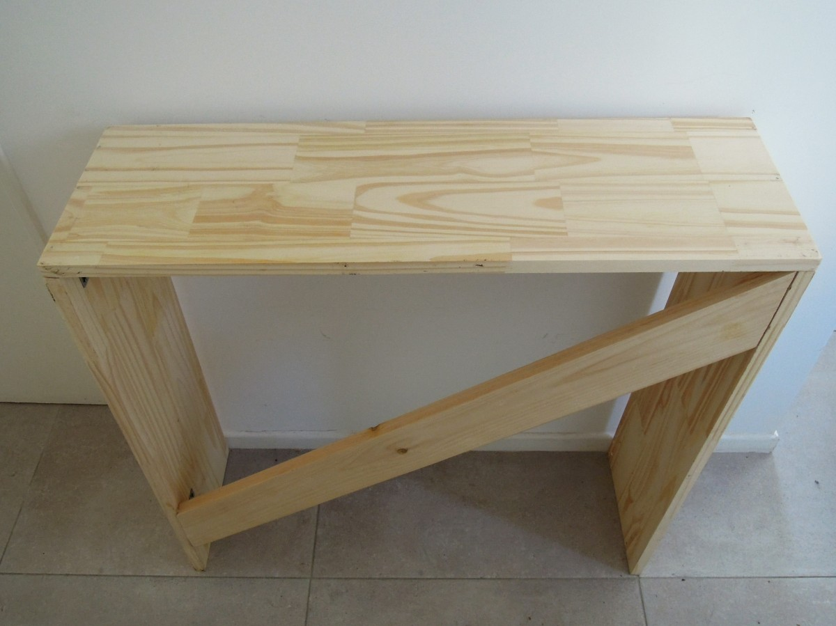 DIY entry table DIY mesa de recibidor Wood table idea tutorial