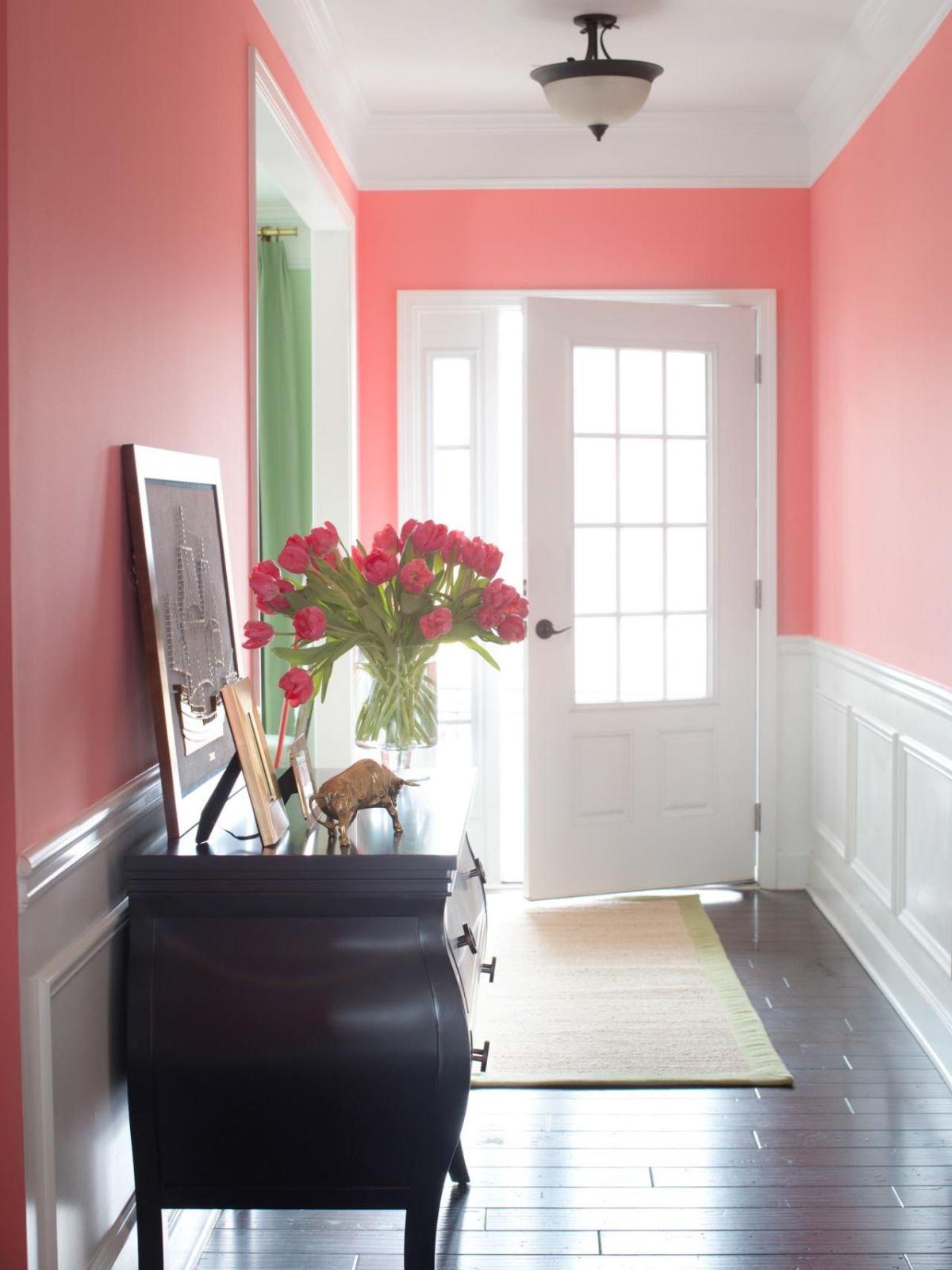 Hallway-pink-shade-paint