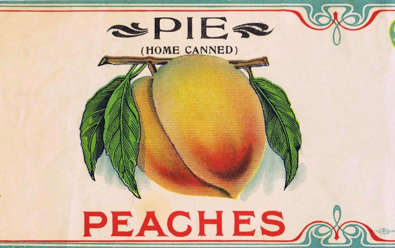 peach pie fruit label